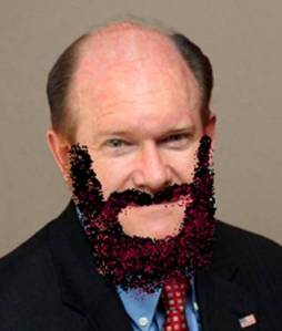Photo of bearded Marxist Chris Coons