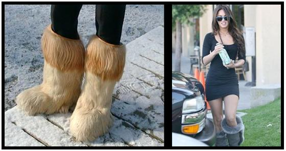 Furry boots fetish