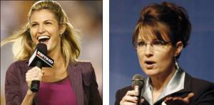 Image of Erin Andrews and Sarah Palin