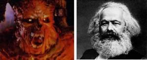 Photo of Satan and Karl Marx