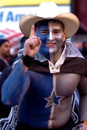 Photo of a Dallas Cowboy cheerleader