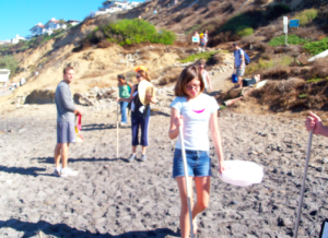 Photo of Greenasium's monthly beach clean-up