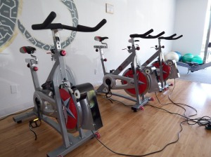 Photo of power-generating visCycle exercise bikes
