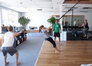 Photo of circuit workout at the Greenasium
