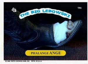 Photo of Nihilist's toe-less foot from the Big Lebowski