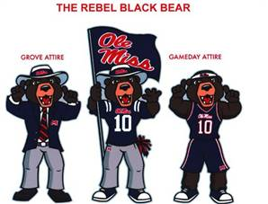 Image of Ole Miss bear mascot
