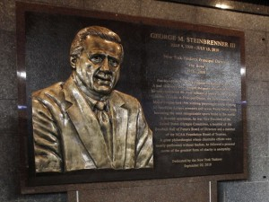 Photo of George Steinbrenner memorial plaque