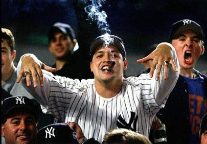 Photo of idiotic New York Yankee fans