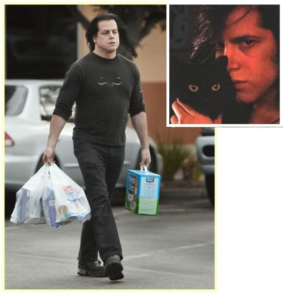 Image of Glenn Danzig purchasing kitty litter