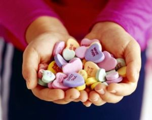 Images of candy hearts