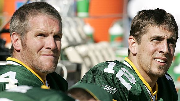 Image of Brett Favre and Aaron Rodgers