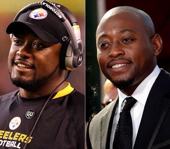Image of Mike Tomlin and look-alike Omar Epps