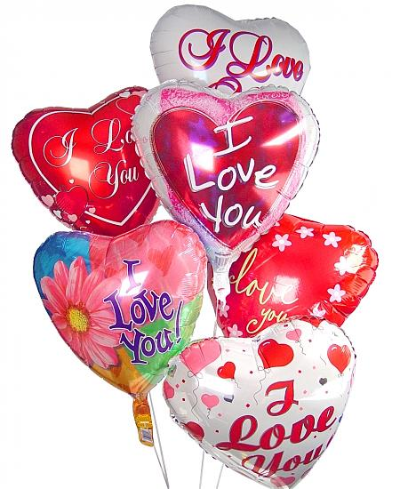 Image of Valentine's Day balloons