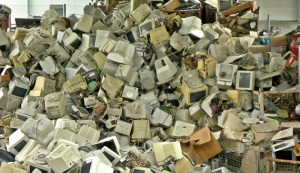 Image of computer and electronic waste