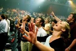 Image of Evangelical Christian congregation