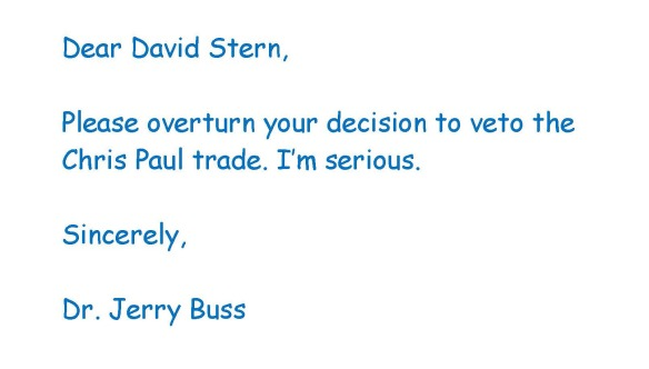 Image of letter to David Stern