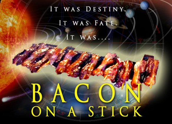 Image of bacon on a stick