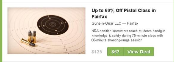 Image of coupon for pistol class