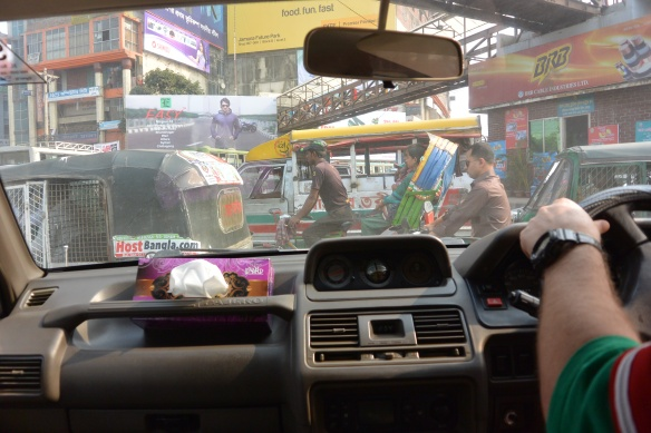 Image of traffic jam in Dhaka, Bangladesh.