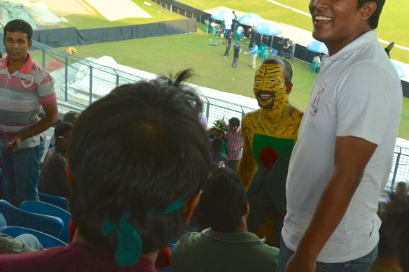 Image of Bangladesh cricket fan, Tiger Man